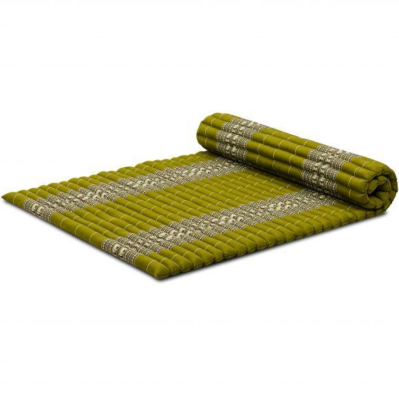 Kapok Rollmatte, Thaimatte, Gr. L, grün/Elefanten