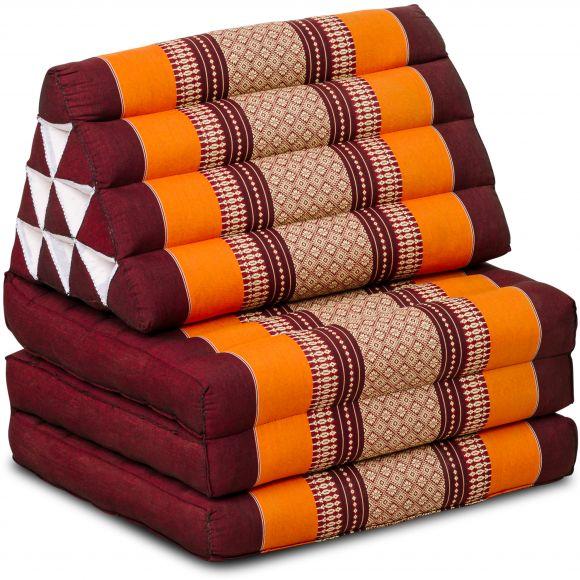 Kapok Thaikissen, Dreieckskissen, orange, 3 Auflagen