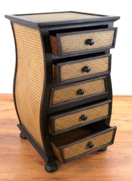 asiatische rattankommode asia wohnstudio. Black Bedroom Furniture Sets. Home Design Ideas
