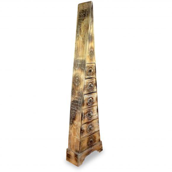 Große Schubladenkommode Pyramide aus Bali (Indonesien), whitewash