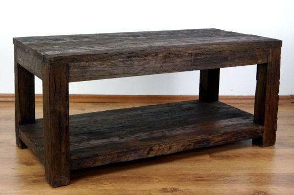Java, Tisch mit Ablage aus recyceltem Teakholz, Nr.41