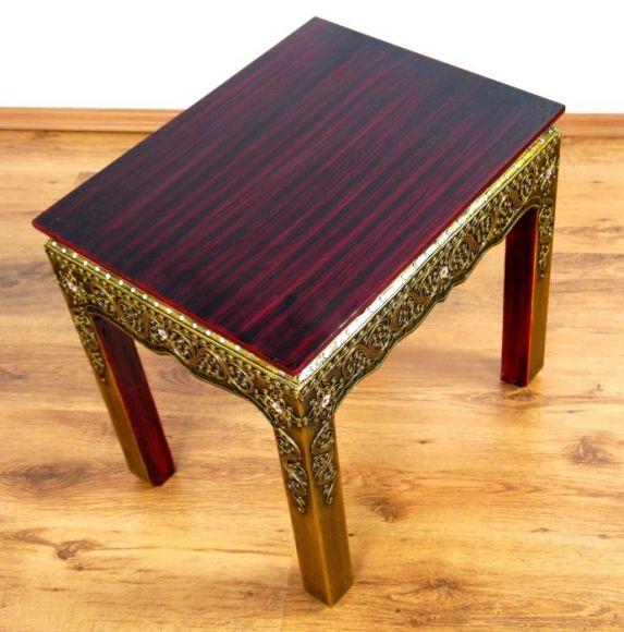 asiatischer tisch mit glasmosaikverzierungen asia wohnstudio. Black Bedroom Furniture Sets. Home Design Ideas
