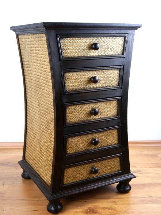 asiatische rattankommode geschwungen asia wohnstudio. Black Bedroom Furniture Sets. Home Design Ideas