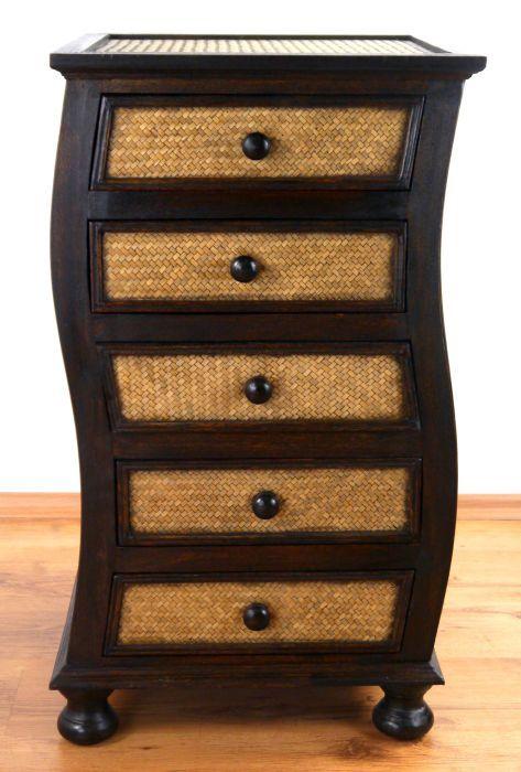 asiatische rattankommode welle. Black Bedroom Furniture Sets. Home Design Ideas