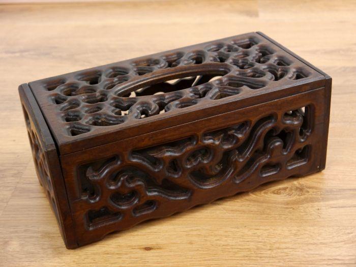 Taschent cherbox aus holz for Asiatische accessoires