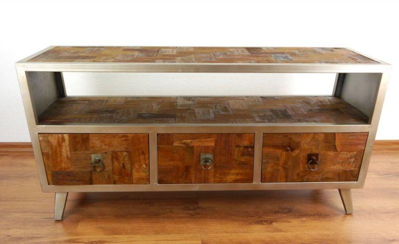 sideboard glas metall elegant gallery of trendy large. Black Bedroom Furniture Sets. Home Design Ideas