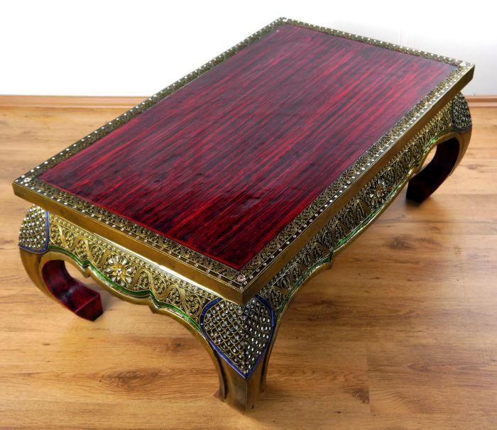 opiumtisch mit glasmosaik asia wohnstudio. Black Bedroom Furniture Sets. Home Design Ideas