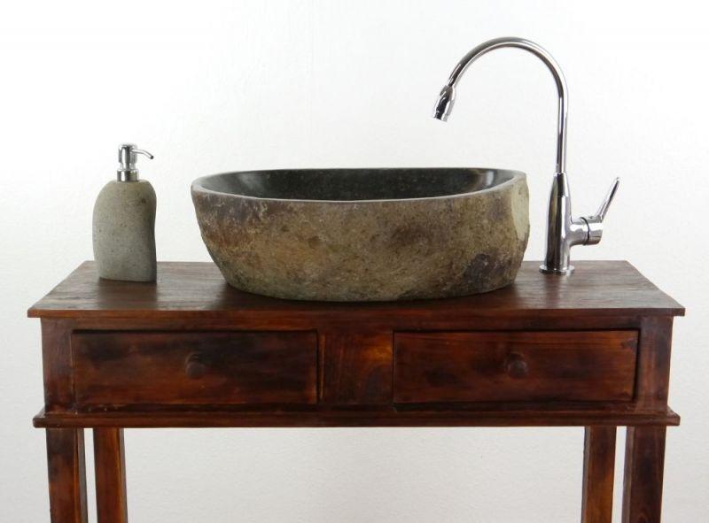 Flussstein Waschbecken Erfahrung : Waschbecken aus indonesien asia wohnstudio