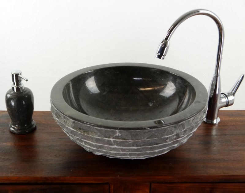 Marmor Waschbecken waschbecken aus marmor rund schwarz bali indon