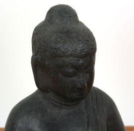 Buddha Teelichthalter, kleine Tonfigur, aus Java (Indonesien)