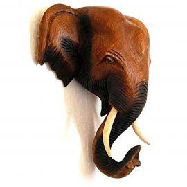Wanddeko massiver asiatischer Elefantenkopf, mittel