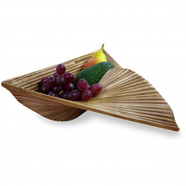 Bambus  Obstschale, Dekoschale  (Dreieck)