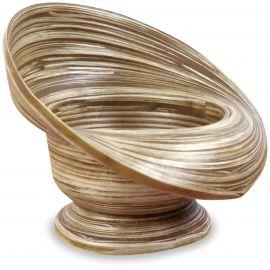 Kleine Bambus Dekoschale, Gebäckschale (rund)