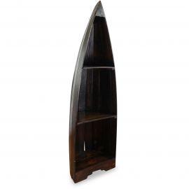 Balinesisches Regal  Boot  in braun, groß