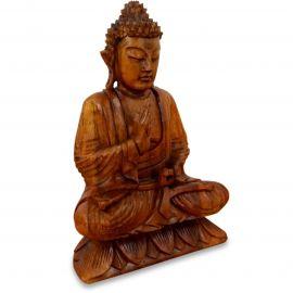 Ruheausstrahlender Buddha aus Bali, Vitarka Mudra, einfarbig, klein