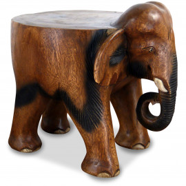 Elefanten Skulptur mit flachem Rücken, groß
