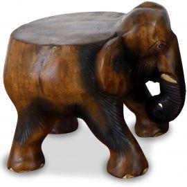Elefanten Skulptur mit flachem Rücken, klein