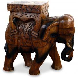 Gigantischer Deko Elefant aus Holz, groß