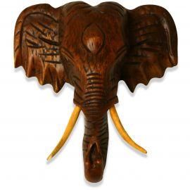 Kleiner, afrikanischer Holzelefantenkopf