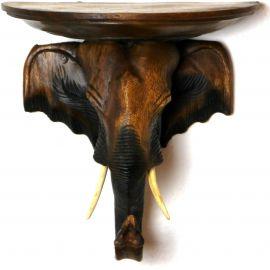 Asiatischer Elefantenkopf mit Ablage *braun*, klein