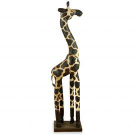 Wunderschöne Giraffe aus Massivholz