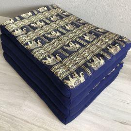 (Auslaufmodell) Nr.15 Klappmatratze, Seide, 80cm, blau/Elefanten