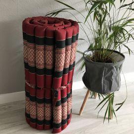 (Auslaufmodell) Nr.23 Kapok Rollmatte, Thaimatte, Gr. M, rot/schwarz