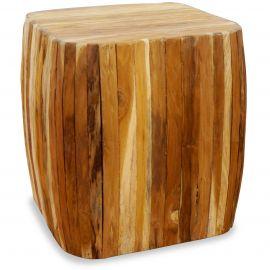 Holzwürfel, Sitzwürfel, natur, mit abgerundeten Ecken, Java (Indonesien)