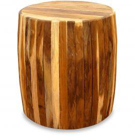Holzwürfel, Sitzwürfel, natur, rund,  Java (Indonesien)