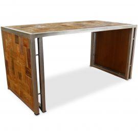 Java, Tisch aus Metall und Teakholz, Nr.52
