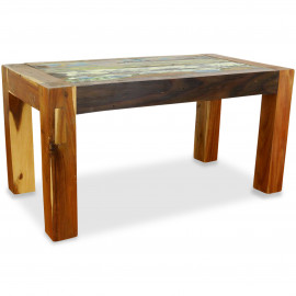 Java, Tisch aus buntem recycelten Teakholz/Bootsholz, Nr.49