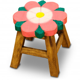 Massivholz Kinderhocker Blume