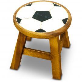 Massivholz Kinderhocker Fußball