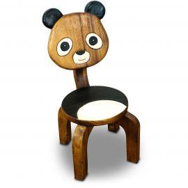 Massivholz Kinderstuhl  Panda