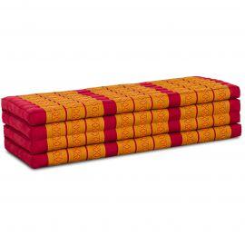 Kapok Klappmatratze, Faltmatratze, rot-gelb, 140cm breit