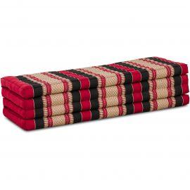 Kapok Klappmatratze, Faltmatratze, rot-schwarz, 140cm breit
