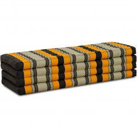 Kapok Klappmatratze, Faltmatratze, schwarz-orange, 140cm breit