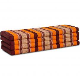 Kapok Klappmatratze, Faltmatratze, orange, 140cm breit