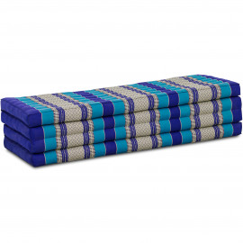 Kapok Klappmatratze, Faltmatratze, blau, 140cm breit