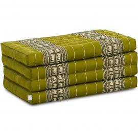 Kapok Klappmatratze, Faltmatratze, grün/Elefanten
