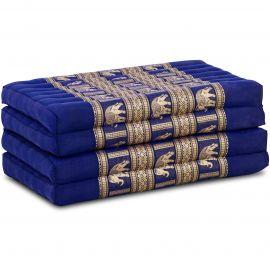 Klappmatratze, Seide, blau/Elefanten