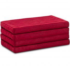 Kapok Klappmatratze, Faltmatratze, rot, einfarbig