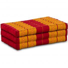 Kapok Kinderklappmatratze, Faltmatratze rot-gelb