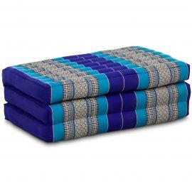 (B-Ware) Nr.129 Kapok Kinderklappmatratze, Faltmatratze blau