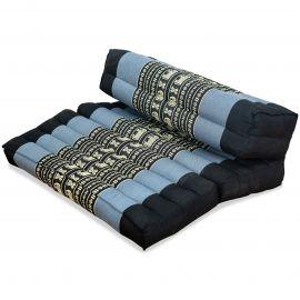 Yogakissen, Stützkissen, klappbar,  blau / Elefanten