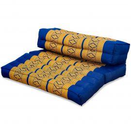 Yogakissen, Stützkissen, klappbar,  blau / gelb