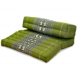 Yogakissen, Stützkissen, klappbar,  grün / Elefanten