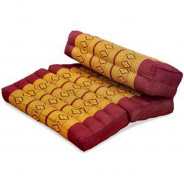 Yogakissen, Stützkissen, klappbar,  rot / gelb