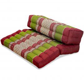 Yogakissen, Stützkissen, klappbar,  rot / grün