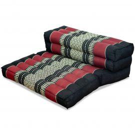 Yogakissen, Stützkissen, klappbar,  schwarz / rot